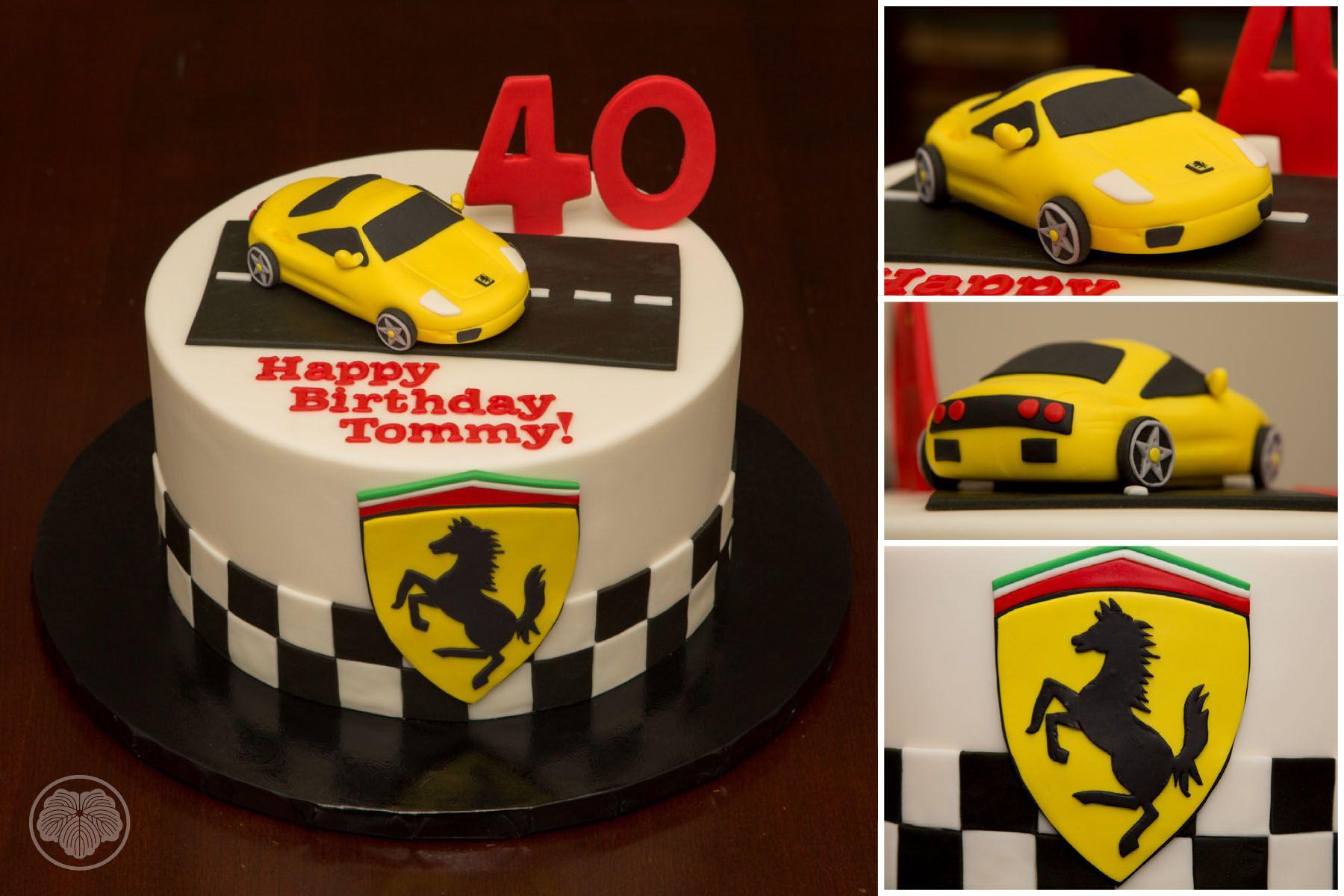 Ferrari Cake With Images Ferrari Cake Custom Cakes Cake