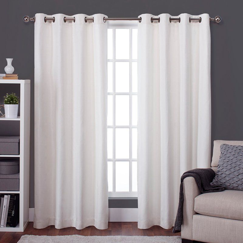 Exclusive Home Raw Silk Grommet Curtain Panel Pair Eh7901 01 2