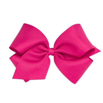 King Grossgrain Bow Shocking Pink Wee Ones Fiocchi Col Nastro Fiocchi Nastri