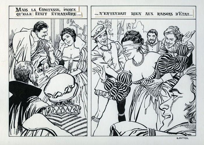 Feito, Eduardo - original pages - Les plaisirs secrets de la Comtesse - (1974) - W.B.