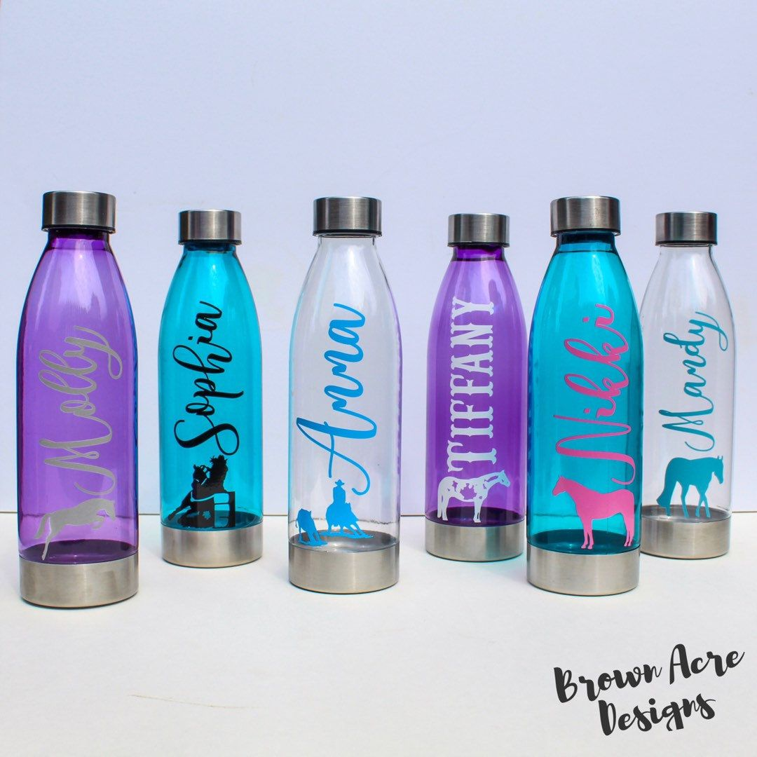 Custom Clear 22 Ounce Water Bottle With Straw Personalized With Your Name