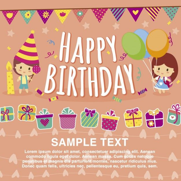 Happy Birthday Card Template \/ Tarjetas de Cumpleaños Happy - birthday card templates free