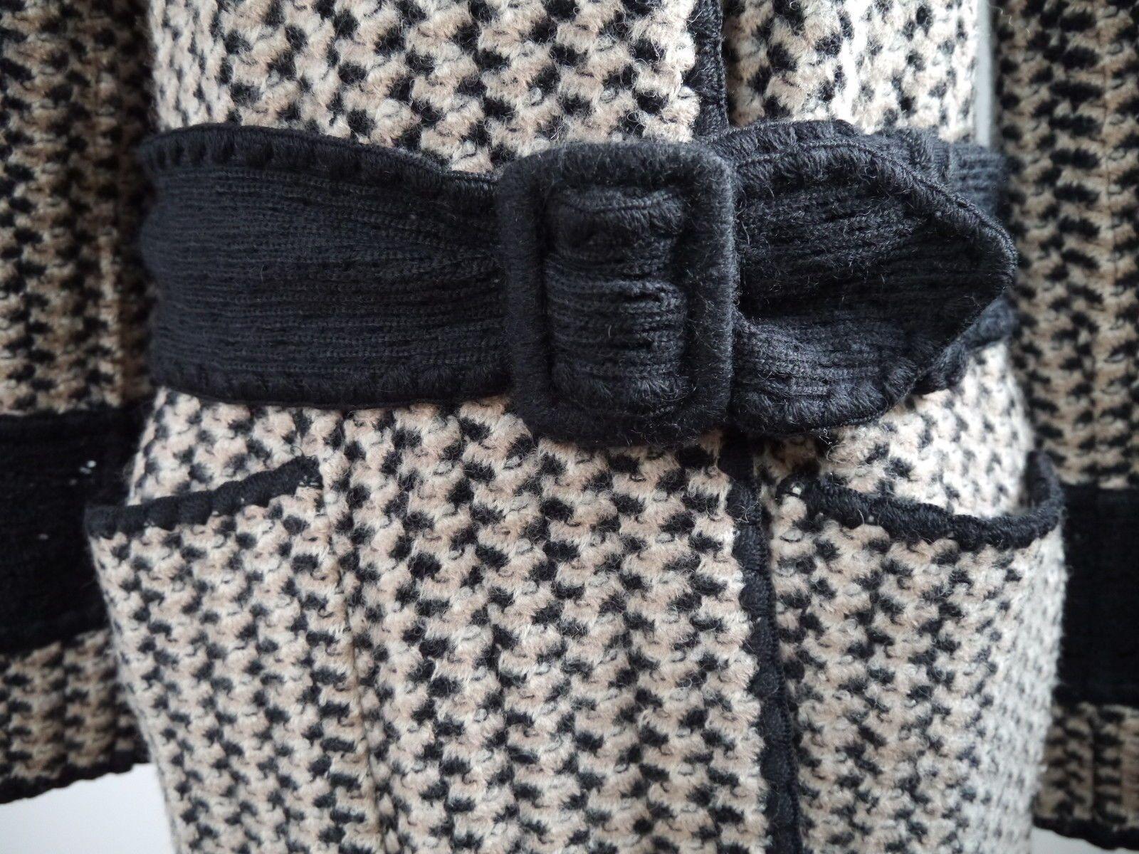 Missoni Orange Label Reversible Wool Knit Belted Coat Italian Size 42   eBay