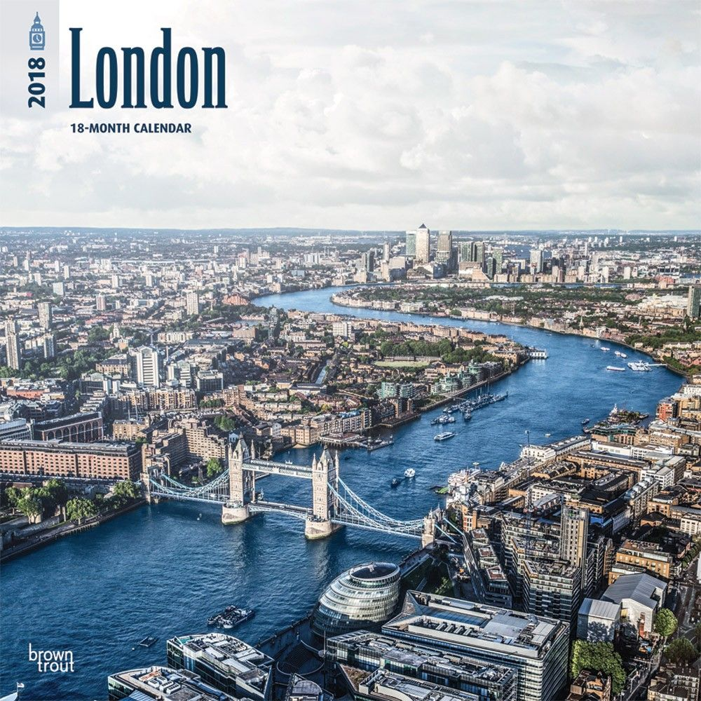 London 2018 12 x 12 Inch Monthly Square Wall Calendar ISBN: 978-1-