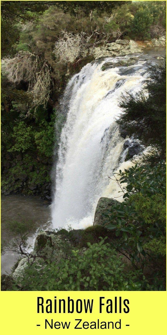 Rainbow Falls - Top New Zealand Waterfalls #rainbowfalls Rainbow Falls - Kerikeri - Northland - New Zealand #rainbowfalls