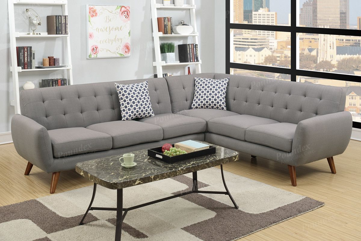 Outstanding Poundex 2 Pcs Sectional Sofa F6961Description Made For The Inzonedesignstudio Interior Chair Design Inzonedesignstudiocom