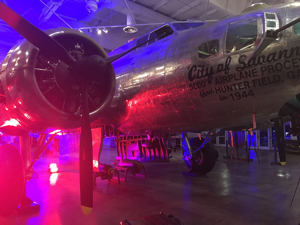 LED Lighting on The B17 Flying Fortress, City of Savannah