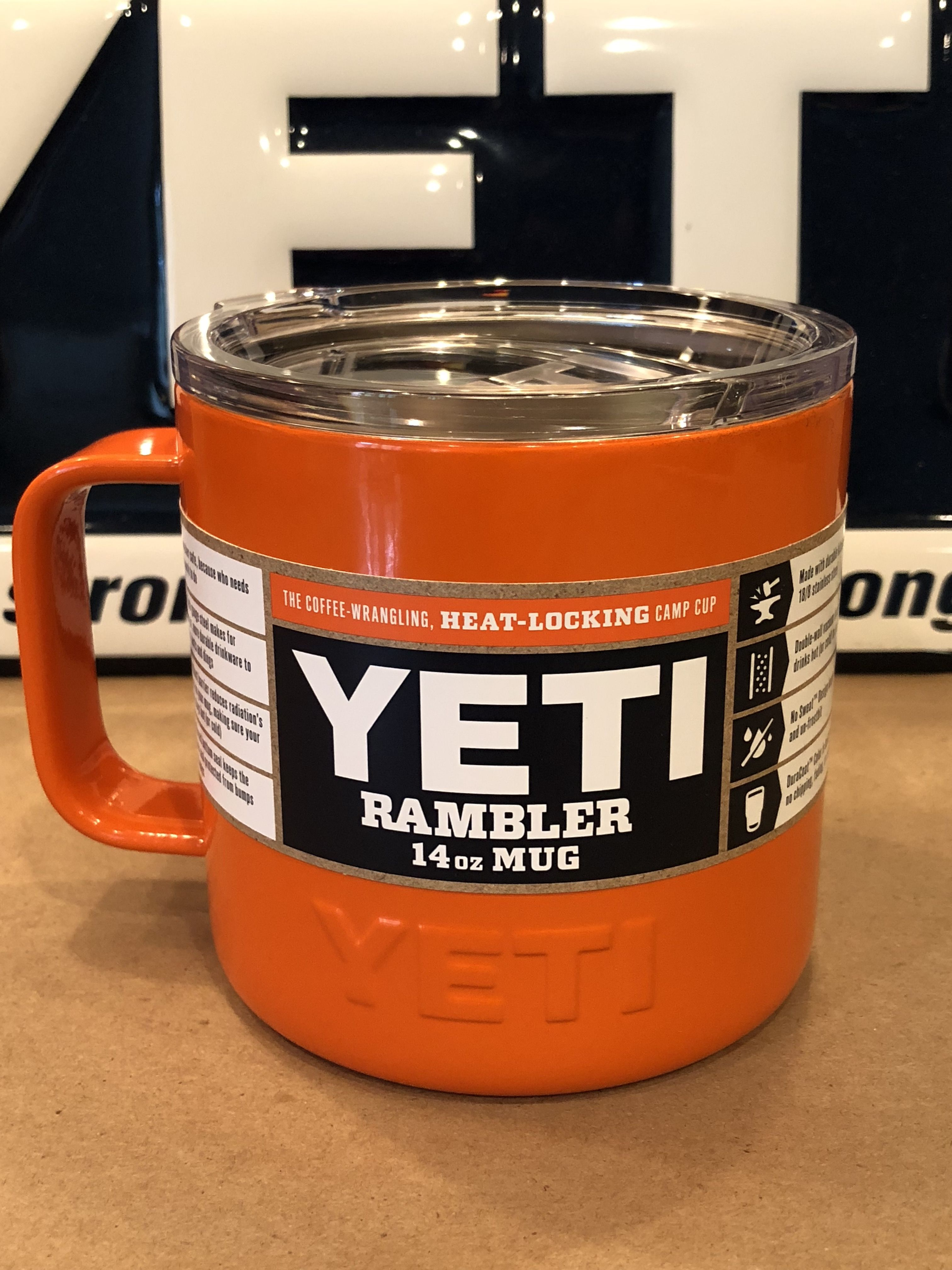 6ea86d44ea5 Custom Powder Coated Gloss Orange Yeti Rambler Camp Mug. Lowball, Colster, Rambler  20 and Rambler 30 plus all bottle and jug sizes are available as well.