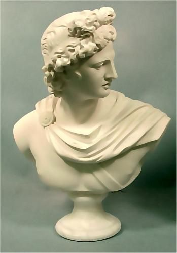 Apollo Belvedere Bust Marble Greek God Classical Sculpture