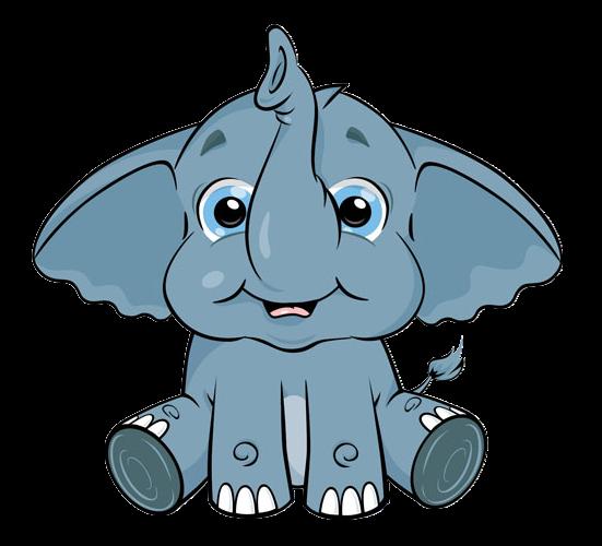 Cute Cartoon Elephant Clip Art | Cartoon elephant