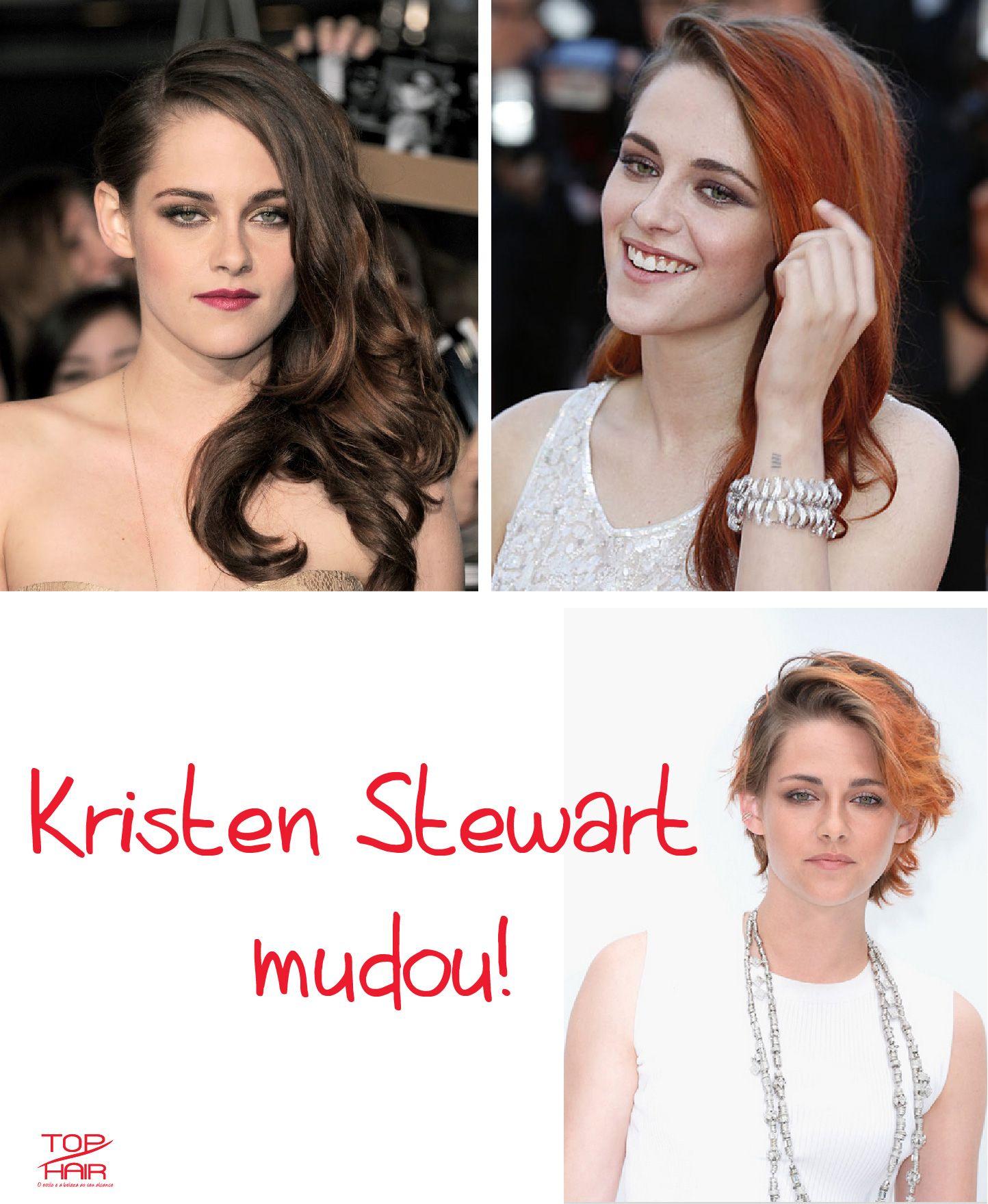 Kristen Stewart mudou radicalmente seu estilo de cabelo através da cor e coloração - http://goo.gl/RB7Rxt