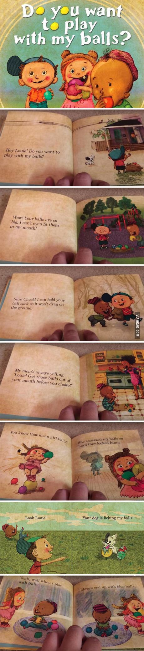 Do You Want To Play With My Balls A Book For Kids Funny Comics For Kids Funny Memes Sarcastic Funny Baby Memes