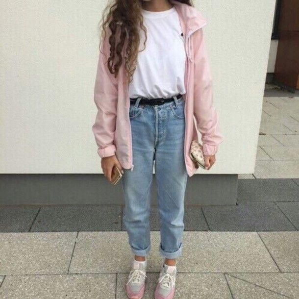 Vintage 90s Outfits For School Aesthetic Clothes Mom Jeans Outfit Fashion