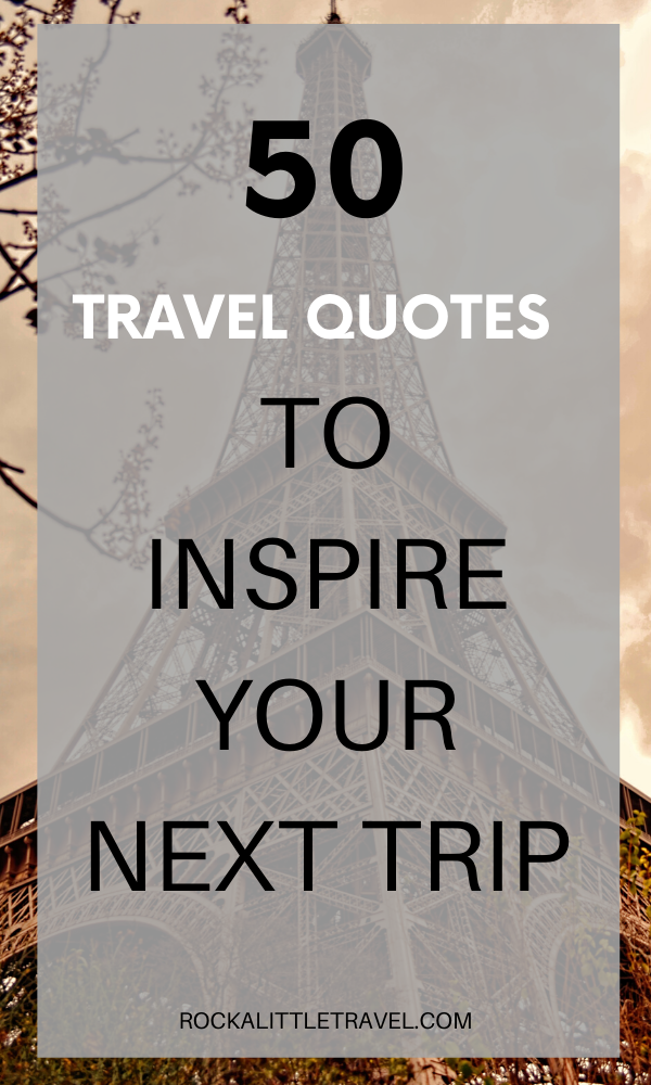 I've compiled these 50 solo travel quotes to inspire those of you who dream about traveling on your own.  There are so many rewards to be found in solo travel. I wish for every woman to travel alone at least once in her lifetime. #travelquotes #quotestoinspire #travelinspiration