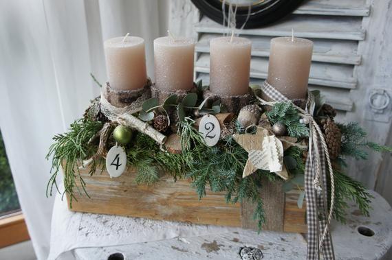 """Advent arrangement """"Forest Christmas…."""""""