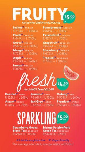 Chatime - 維多利亞州LAVERICK | Bubble tea menu, Bubble tea ...