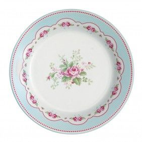 GreenGate Amy Plate Pale Blue www.occa-home.co.uk