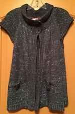 Girls Grey Short Sleeve Swing Sweater Cardigan UnionBay Medium 10 ...
