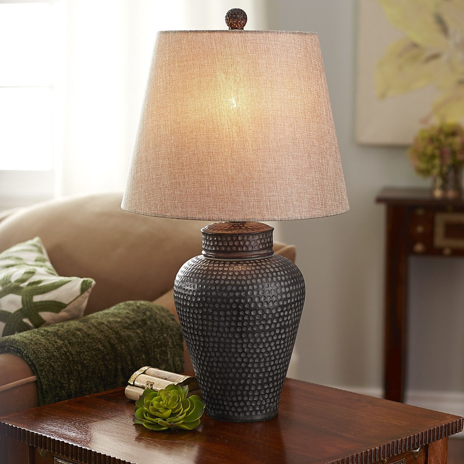 Pier 1 imports hammered bronze table lamp living rooms and room somewhat masculine and definitely handsome this bronze hammered lamp warms up living rooms offices and dens equally well thanks to its accommodating mozeypictures Image collections