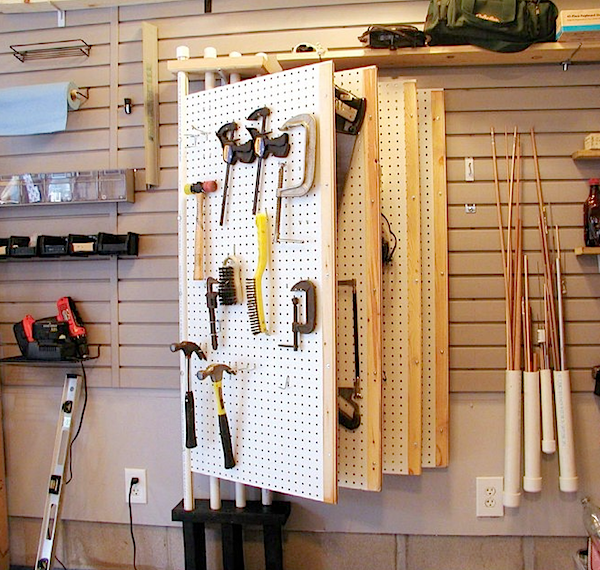 How To Pegboard Leaves For Tool Organization