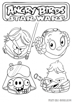 Printable Angry Birds Star Wars Coloring Page Printable Coloring