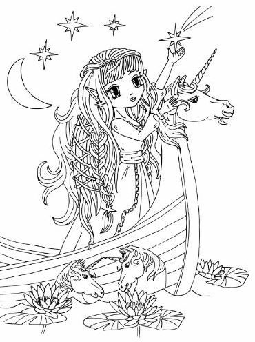 anime princess fairies artist elena yalcin anime asian art manga coloring pages. Black Bedroom Furniture Sets. Home Design Ideas