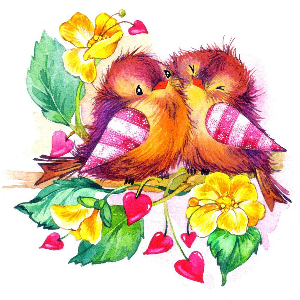 Открытки для девушек птички