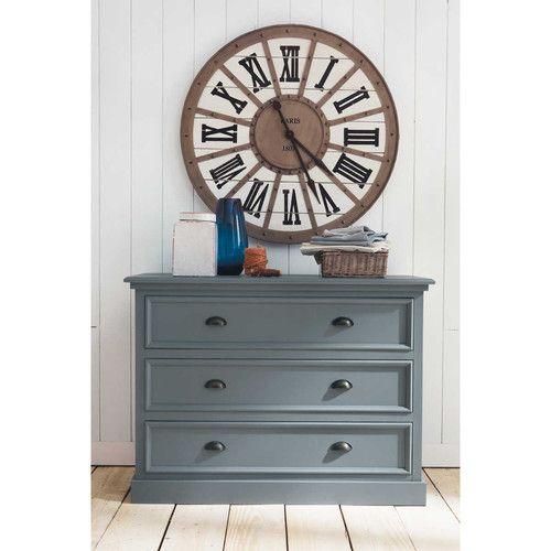 Ladekast in grijs hout, groot model - Newport