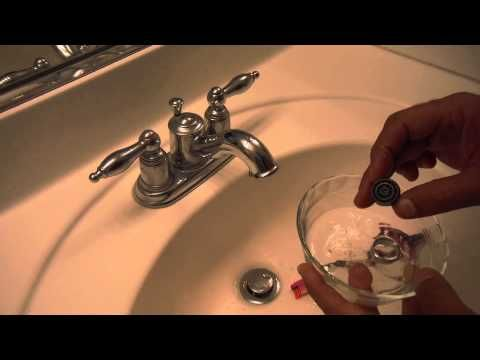 How to Clean a Bathroom sink Faucet Aerator Screen (Low water ...