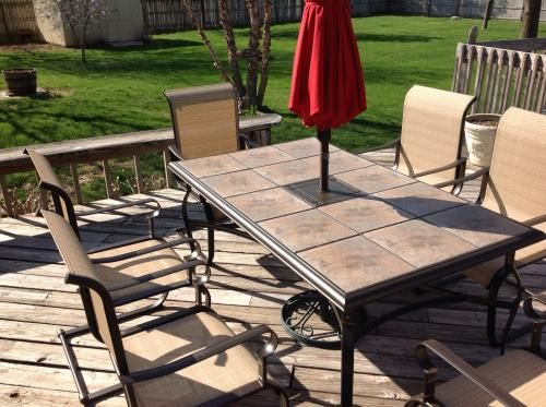 Hampton Bay Belleville 7 Piece Patio Dining Set FCS80198ST At The Home Depot    Mobile