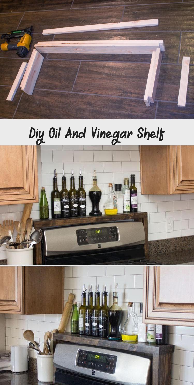 diy oil and vinegar shelf decor dıy in 2020 diy oils shelf decor diy decor on kitchen organization oil and vinegar id=59225