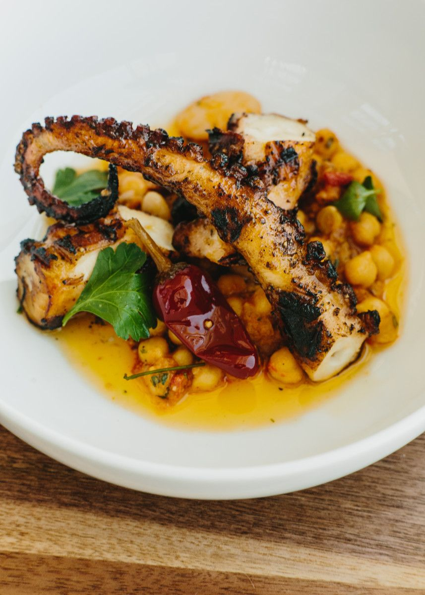 The Siren Song Of St Cecilia Octopus Salad Atlanta Restaurants Grilled Octopus