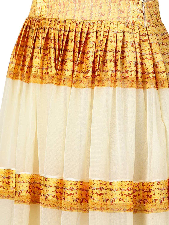 7bf3ec795 Inddus Beige Chiffon Blend Lehenga Choli With Jacket (Semi-Stitched)  Amazon .in  Clothing   Accessories