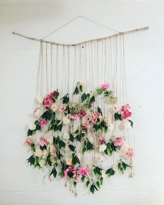 This Is A Gorgeous Hand Crafted Floral Wall Hanging Made With