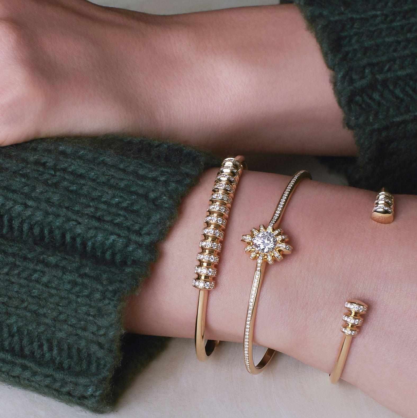 Gold tori bracelets melissa kaye stacks pinterest bracelets