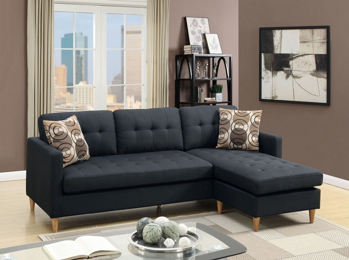 Best 2Pc Sectional W Pillows Apartment Space Saver Small 400 x 300