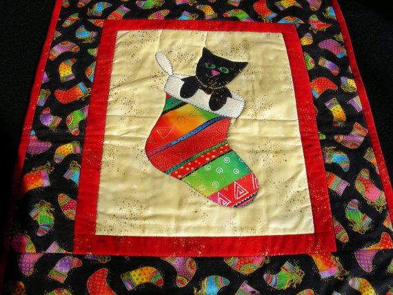 Laurel Burch Appliqued/Quilted Wall Hanging/Table Topper - \