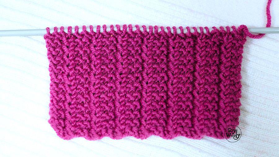 Punto Reversible en 1 vuelta para tejer bufandas mantas cuellos ...