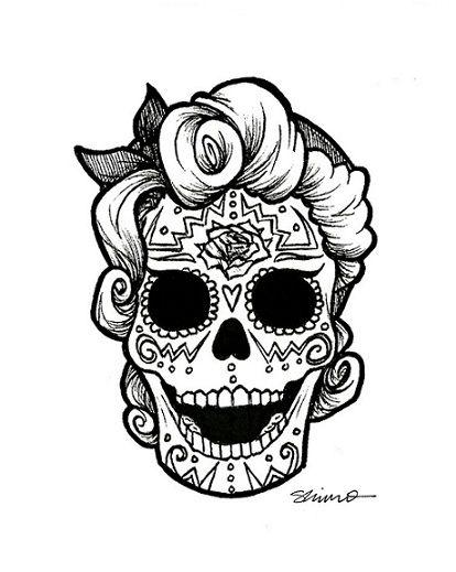 day of the dead coloring and craft activities sugar skulls Rockabilly Graphics rockabilly sugar skull