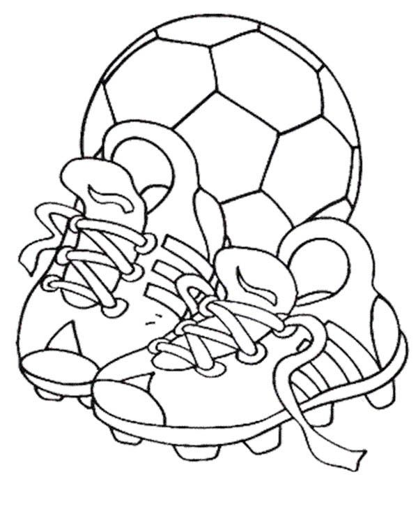 Kicking Football Shoes Coloring Pages Desenhos Esportes Desenho Dos Simpsons Molde Para Pintura