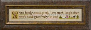 counted cross stitch pattern  think deeply by thecottageneedle, $8.00