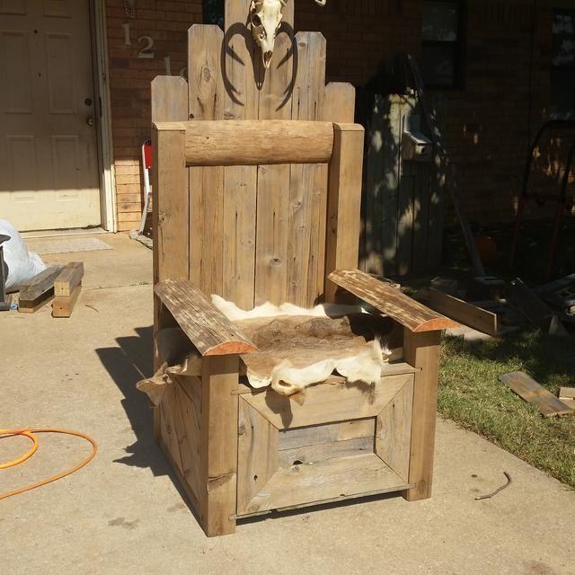 Viking King Chair Viking Decor Medieval Furniture
