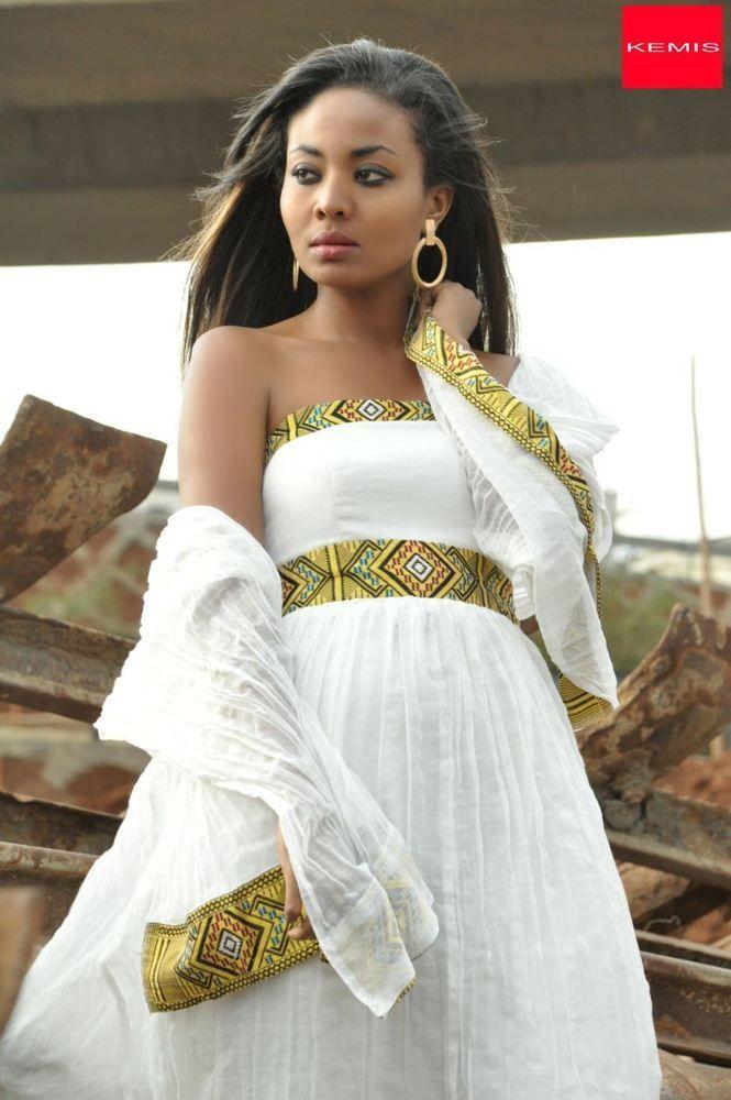 Ethiopian dress habesha dresses traditional modern for Habesha dress for wedding