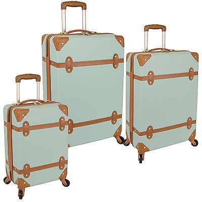 DIANE von FURSTENBERG SALUTI HARDSIDE 3 PIECE SPINNER LUGGAGE SET ...