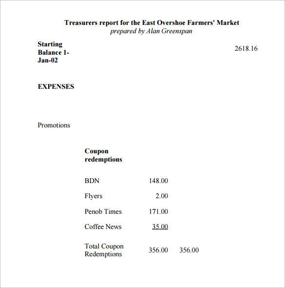 Treasurer Report Template 2 Templates Example Templates Example Report Template Templates Newspaper Template