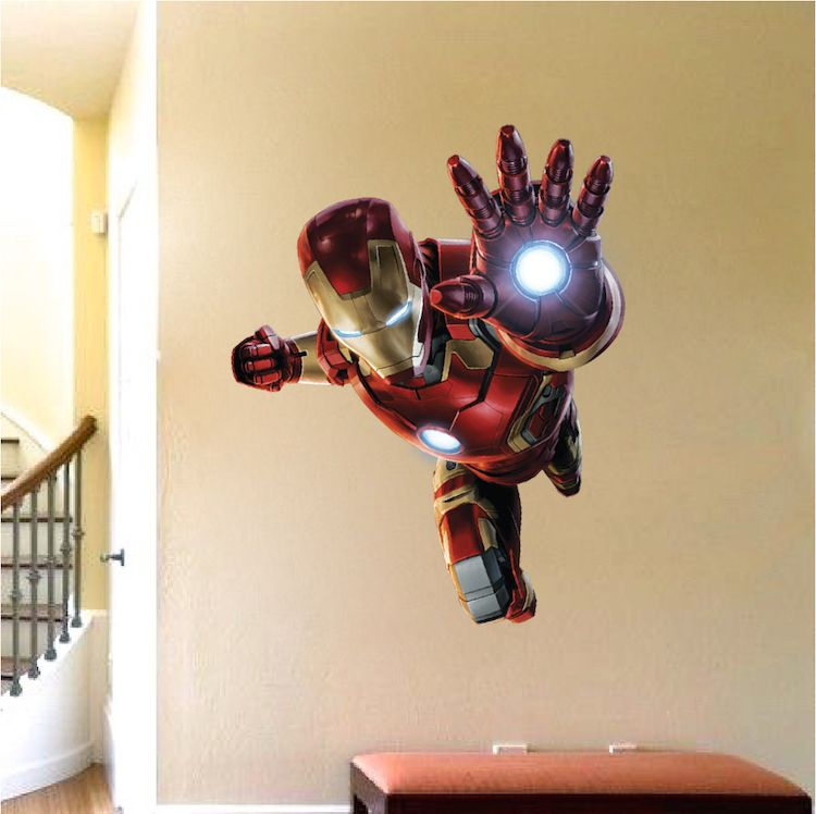 Ironman Wall Decal Superhero Wall Design Avengers Wall Stickers