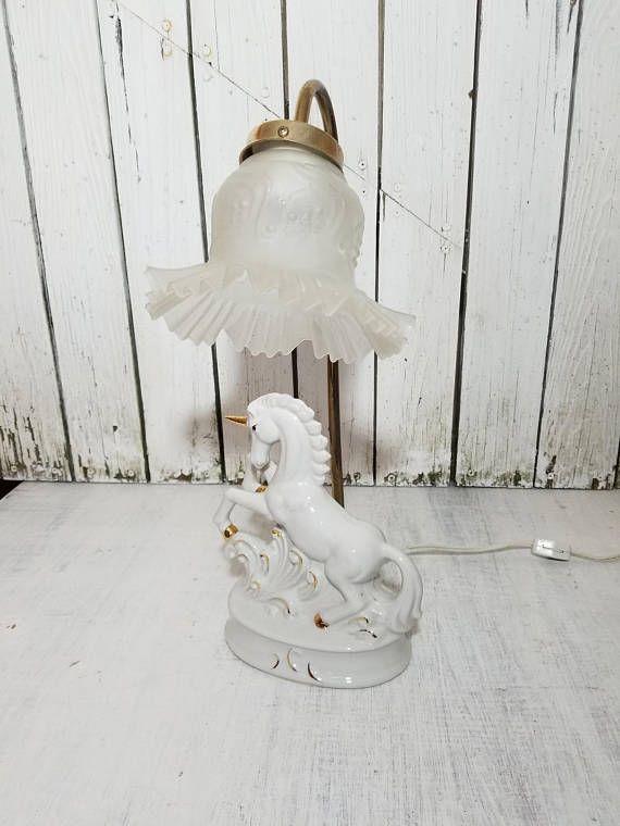 Vintage Unicorn Lamp Unicorn Lamp Table Lamp Accent Lamp Unicorn Lamp Table Lamp Accent Lamp