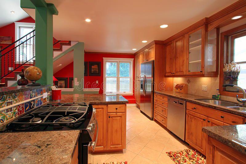 luxurious modern kitchen interior details of luxurious