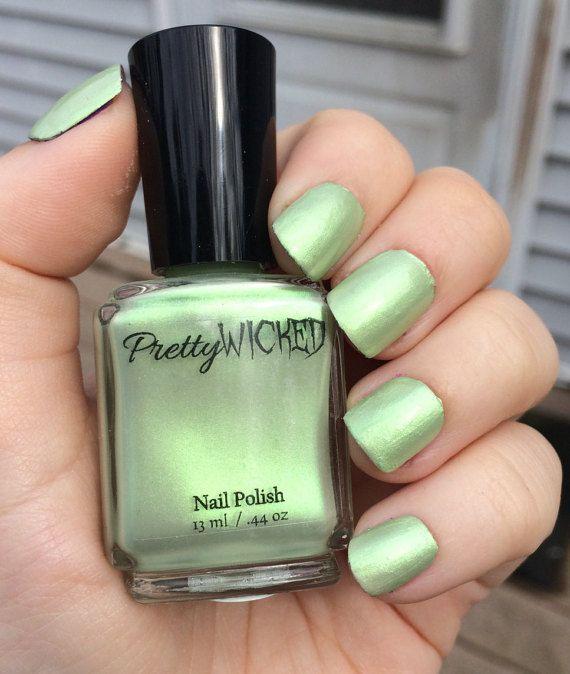 Pastel Mint Green Nail Polish, Eve Nail Polish, Pastel Nail Polish ...