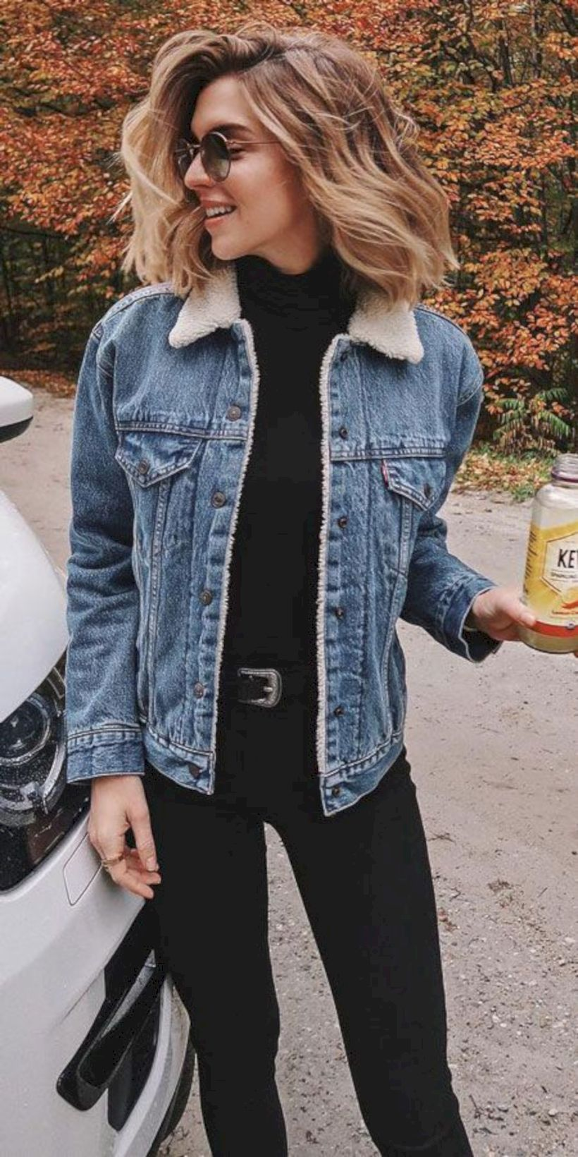 47 Best Outfit Ideas For Winter Holidays # Outfits ideas Women's Denim Sherpa Jacket - Universal Thread™ Light Blue